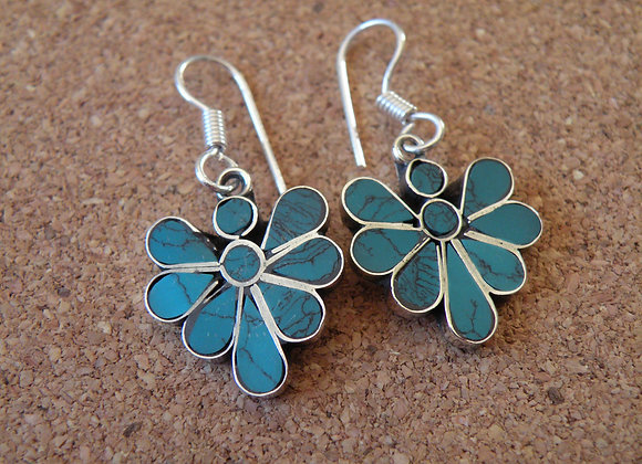 Turquoise earrings **silver Plated**