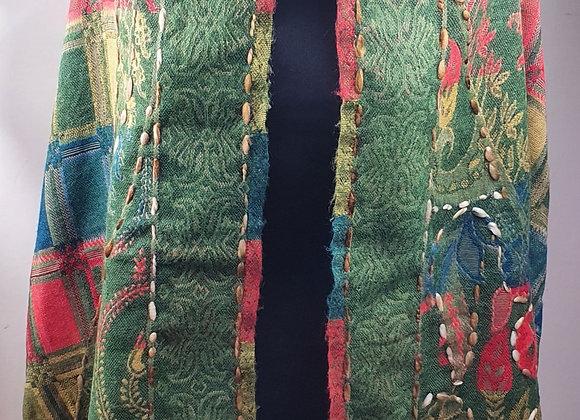 Double Sided Yak Woollen Stole,  ( Green,Red,Blue)