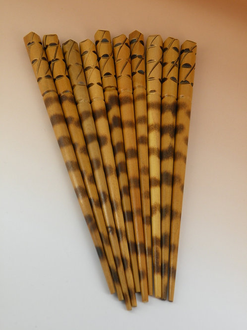 Hand Carved Hair Sticks From Nepal