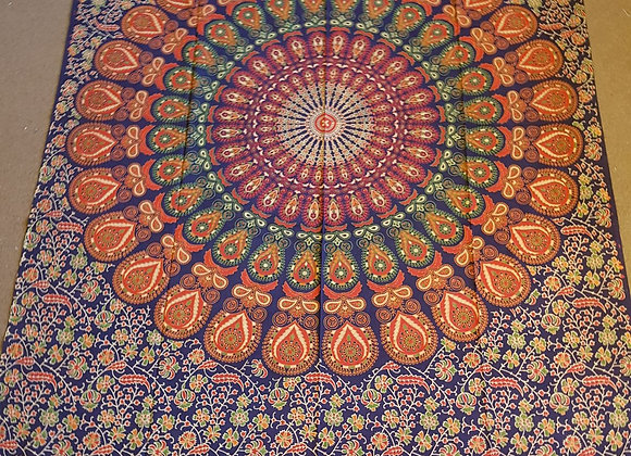 Peacock Mandala(Orange,Green,Purple)