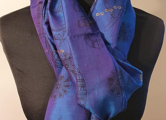 Large Raw Silk (Purple)