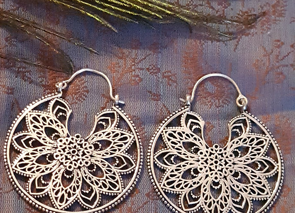 Floral Mandala(Silver Plated)