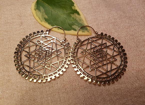 Mandala Earrings Chunky