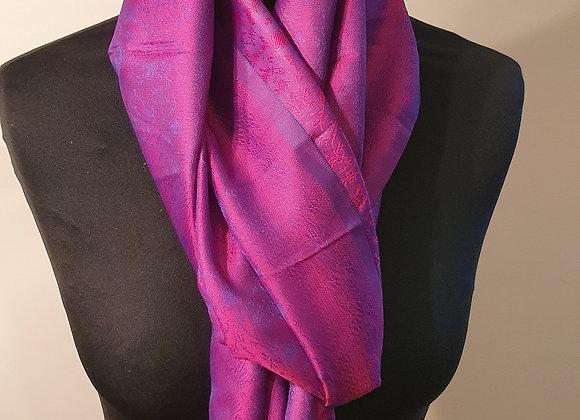 Fine Silk Stole  (Indigo ,Magenta)