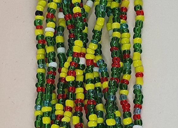 Green and Yellow Beadded Bracelet