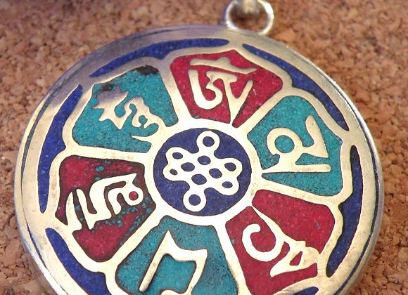 """""""Aum Mani Padme Hum"""" Silver Plated ** Pendent"""