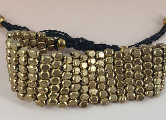 Brass Beads Adjustable Bracelet