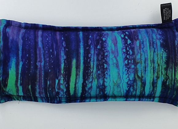 Hand Dyed Silk Eye Pillow with Flex Seeds(Indigo and Turquoise)