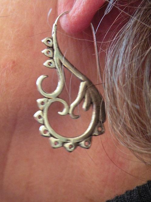 Silver polished Earrings