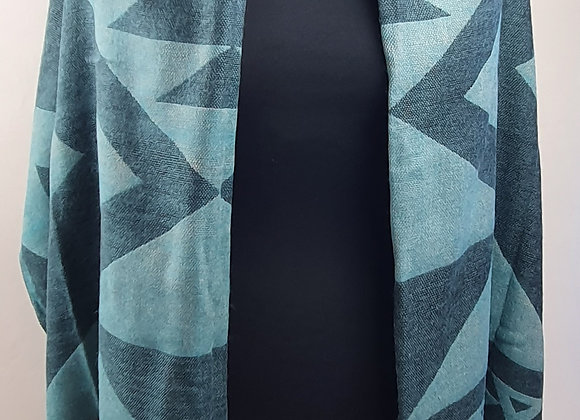 Large Double Sided Cosy Yak Woollen Shawl/Blanket(Grey)