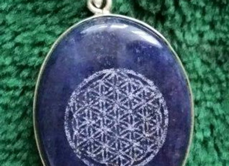"""Flower Of Life"" Sacred Geometry *Lapis Lazuli* St. Silver"