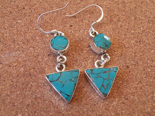 Turquoise Silver Polished Earrings