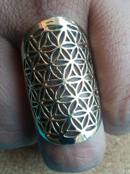 """Tree Of Life""  Sacred Geometry Brass ring"