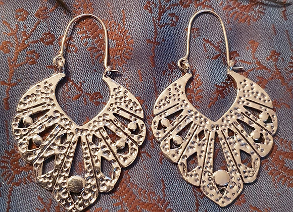 Large Bali Earrings(Silver Plated)