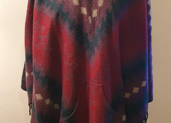 Yak Woollen Poncho (Purple ,Red)