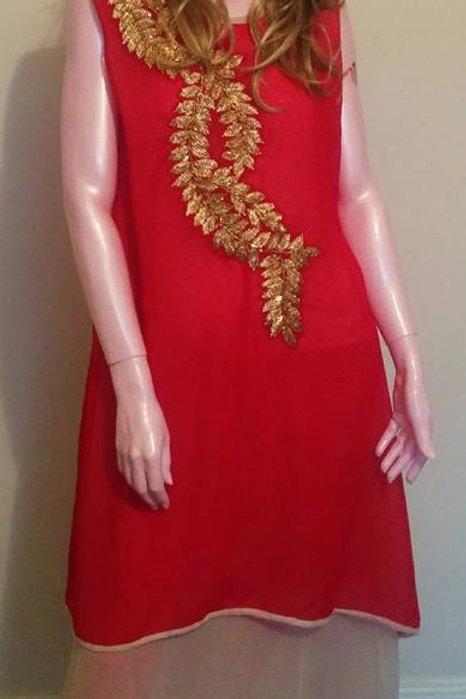 Dress with Hand embriodary