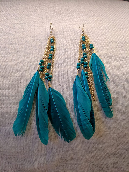 Feather Earrings and Earcuffs