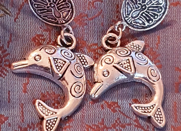 Dolphin Earrings (Silver Plated)