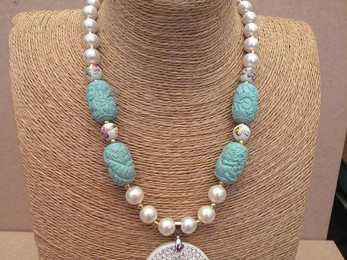 Handmade Chunky Jewellery in Turquoise