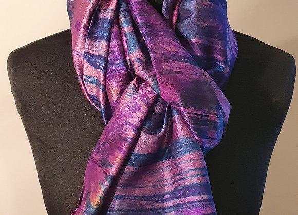 Large Raw Silk (Blue ,Purple)
