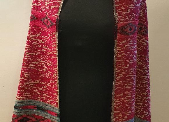 Large Double Sided Cosy Yak Woollen Shawl/Blanket (Red ,Beige)