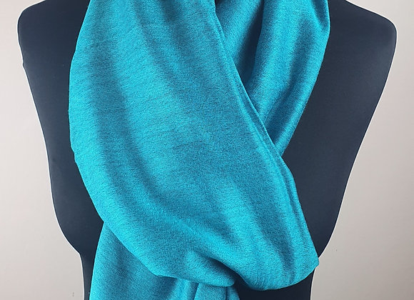 Double Shaded Pashmina In Soft Turquoise and Black