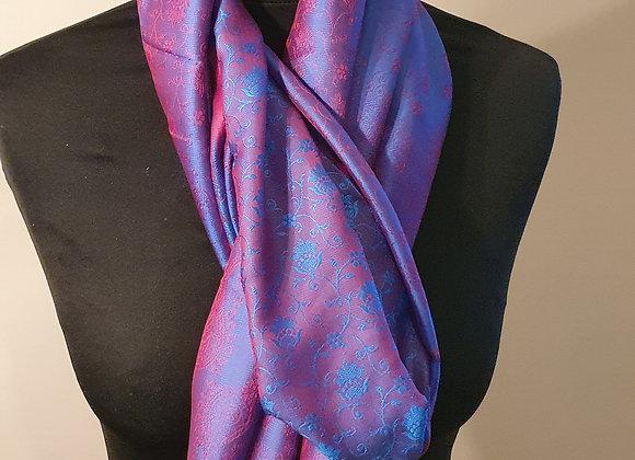 Fine Silk Stole  (Purple ,Magenta)