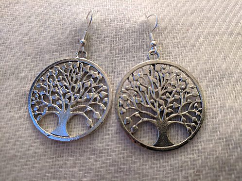 Tree of Life silver polished
