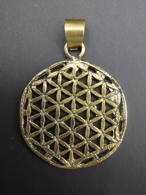 """Flower Of Life"" Brass polished"