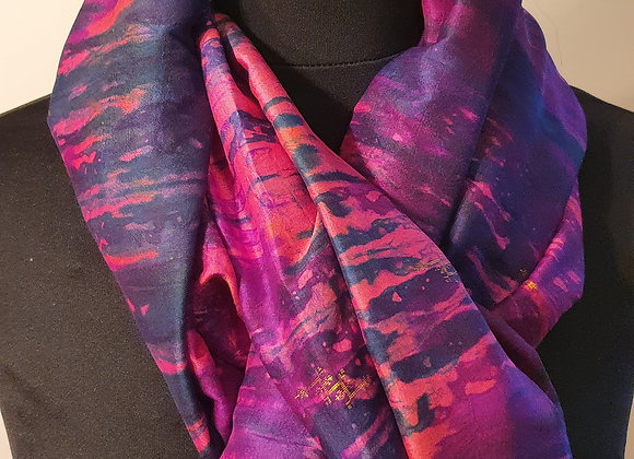Large Raw Silk (Purple, Magenta)