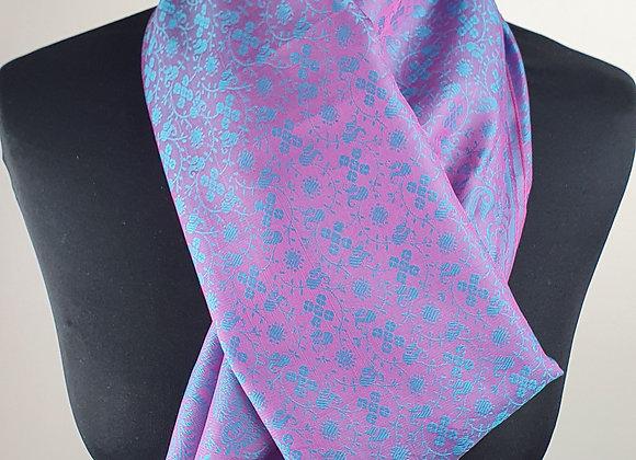 Fine Silk Stole  (Turquoise,Purple)