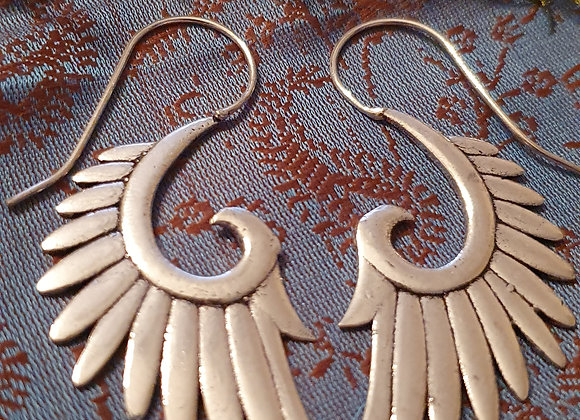 Eagle Wings Earrings( Silver Plated )
