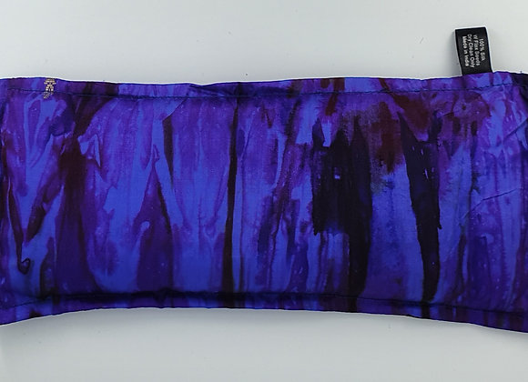Hand Dyed Silk Eye Pillow with Flex Seeds(Purple)