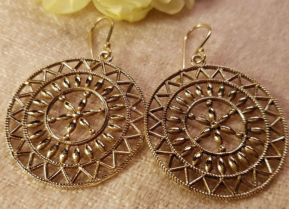 Mandala Earring (Brass)