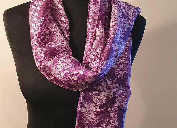 Fine Silk scarf  (Purple)