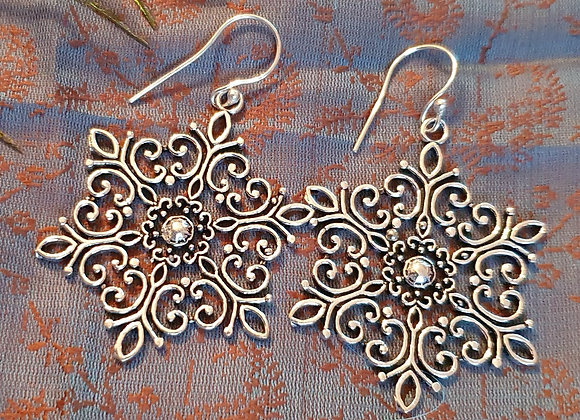 Mandala Earrings (Silver Plated)