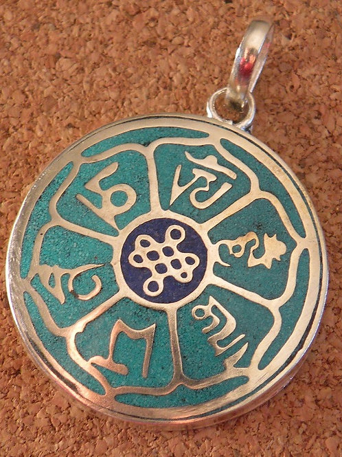 """""""Aum mani Padme Hum"""" and """"Eternal Knot Pendent *Silver Polished*"""