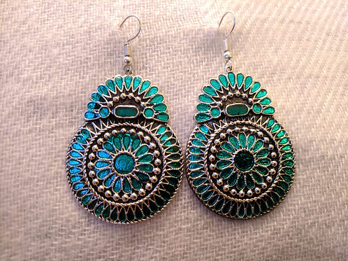 Turquoise and Multicolour earrings