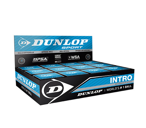 Dunlop Intro Blue Dot Squash Balls