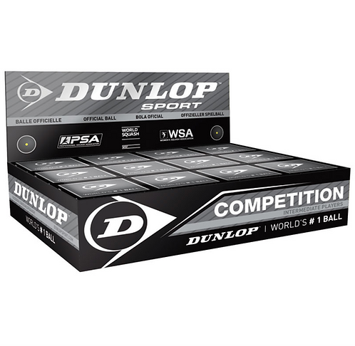 Dunlop Competition Single Yellow Squash Balls