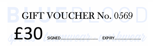 BLUE BLOOD Gift Voucher with FREE GREETING