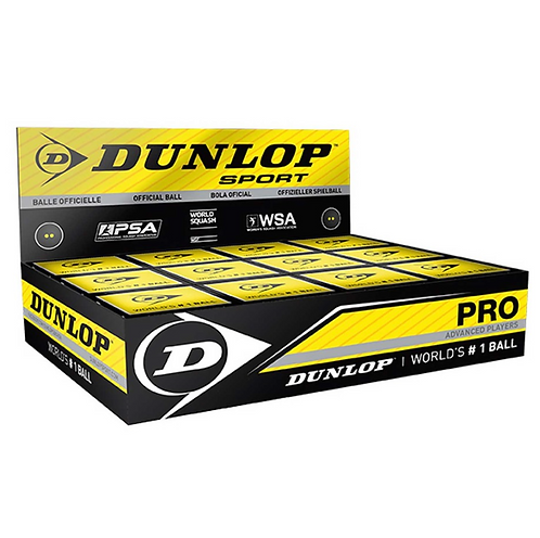 Dunlop Pro Double Yellow Squash Balls