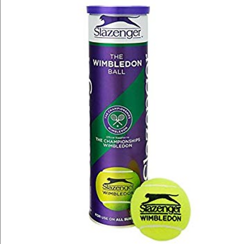 Slazenger Wimbledon Official Grass Court 4 Ball Tube
