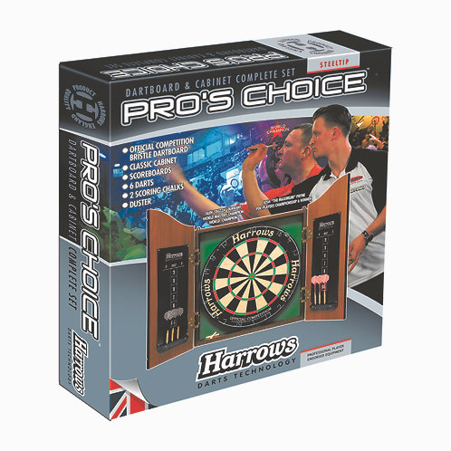 Harrows Pro Choice Darts Cabinet PACK