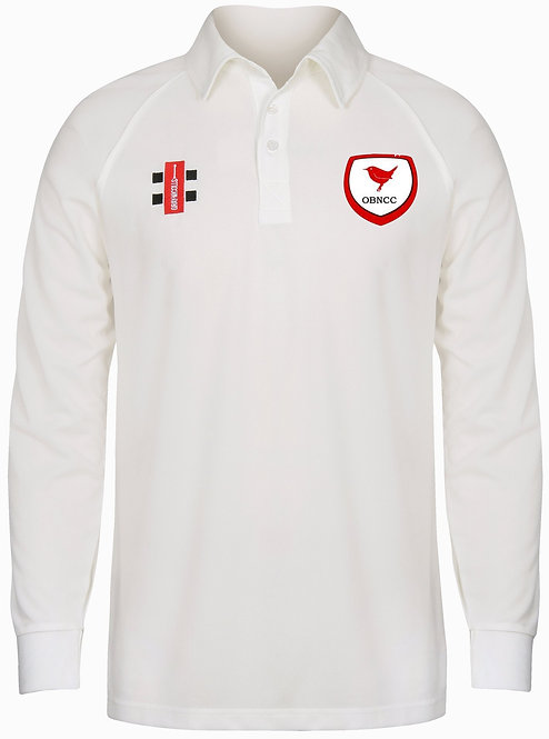 Junior OBNCC Long Sleeve Cricket Playing Shirt