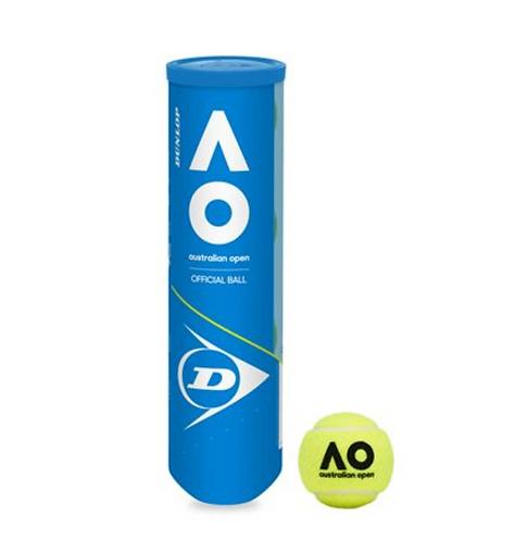Dunlop Australian Open Official 4 Ball Tube