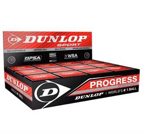 Dunlop Progress Red Dot Squash Balls