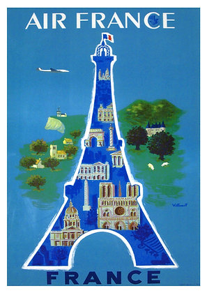 French Travel Advertisement