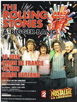 Vintage French Concert Advertisement