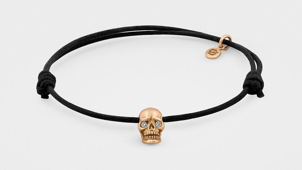Skull Bracelet in 18kt Rose Gold With Diamond Eyes